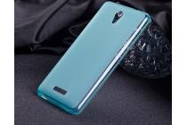 """Фирменная ультра-тонкая полимерная из мягкого качественного силикона задняя панель-чехол-накладка для Highscreen Power Five""""  голубая"""