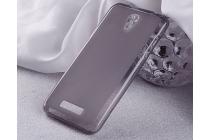 """Фирменная ультра-тонкая полимерная из мягкого качественного силикона задняя панель-чехол-накладка для Highscreen Power Five"""" серая"""