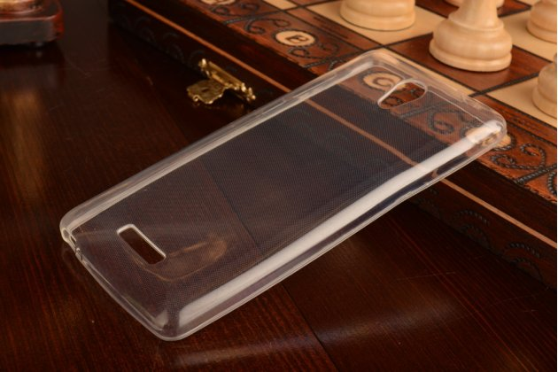 Фирменная ультра-тонкая полимерная из мягкого качественного силикона задняя панель-чехол-накладка для Highscreen Power Five прозрачная