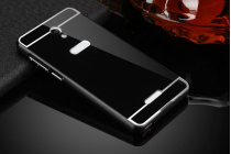 """Фирменная металлическая задняя панель-крышка-накладка из тончайшего облегченного авиационного алюминия для Highscreen Power Five"""" черная"""
