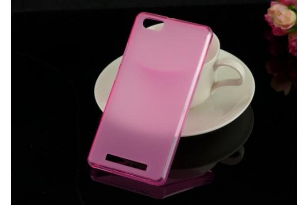 """Фирменная ультра-тонкая полимерная из мягкого качественного силикона задняя панель-чехол-накладка для Highscreen Power Ice"""" розовая"""
