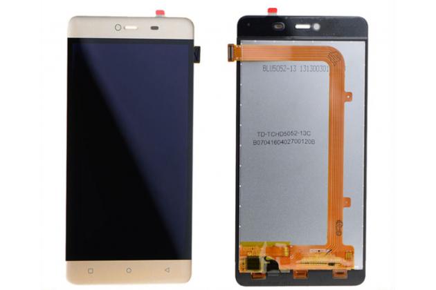 """Фирменный LCD-ЖК-сенсорный дисплей-экран-стекло с тачскрином на телефон Highscreen Power Rage"""" золотой + гарантия"""