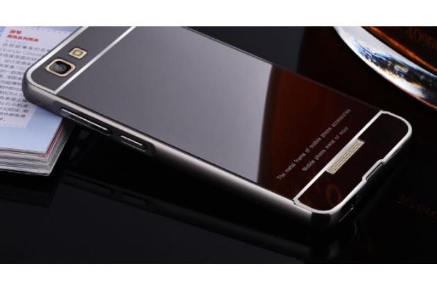 """Фирменная металлическая задняя панель-крышка-накладка из тончайшего облегченного авиационного алюминия для Highscreen Tasty"""" черная"""