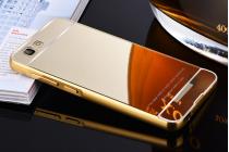 """Фирменная металлическая задняя панель-крышка-накладка из тончайшего облегченного авиационного алюминия для Highscreen Tasty""""  золотая"""
