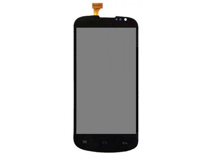 Фирменный LCD-ЖК-сенсорный дисплей-экран-стекло с тачскрином на телефон Highscreen Alpha Rage черный + гаранти..