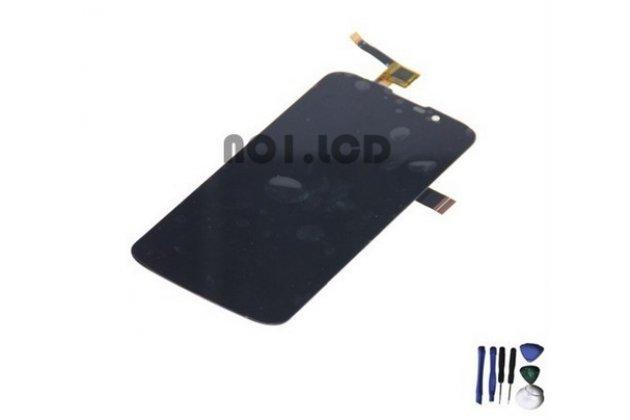 Фирменный LCD-ЖК-сенсорный дисплей-экран-стекло с тачскрином на телефон Highscreen Omega Prime Mini черный + гарантия