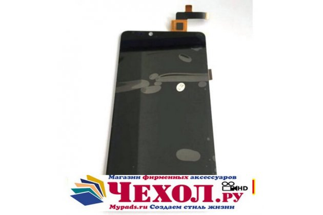 Фирменный LCD-ЖК-сенсорный дисплей-экран-стекло с тачскрином на телефон Highscreen Omega Prime XL черный + гарантия