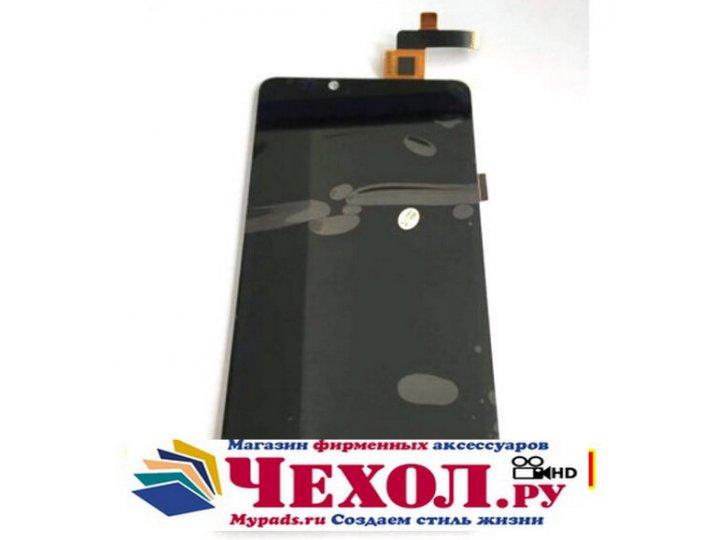 Фирменный LCD-ЖК-сенсорный дисплей-экран-стекло с тачскрином на телефон Highscreen Omega Prime XL черный + гар..
