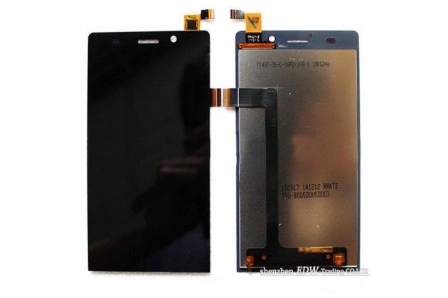 Фирменный LCD-ЖК-сенсорный дисплей-экран-стекло с тачскрином на телефон Highscreen Thor черный + гарантия