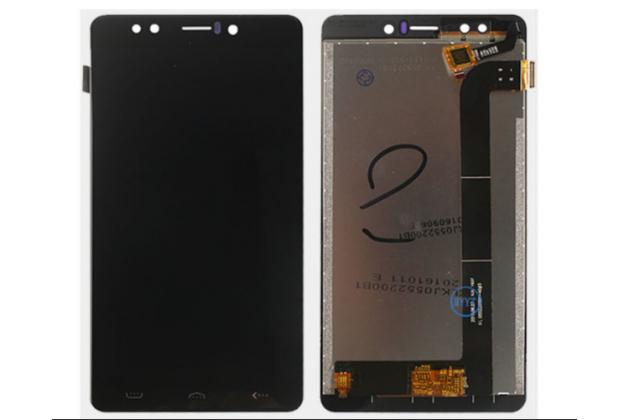 Фирменный LCD-ЖК-сенсорный дисплей-экран-стекло с тачскрином на телефон HomTom HT10 черный + гарантия