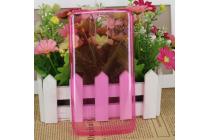 Фирменная ультра-тонкая полимерная из мягкого качественного силикона задняя панель-чехол-накладка для HomTom HT17/ HT17 Pro розовая