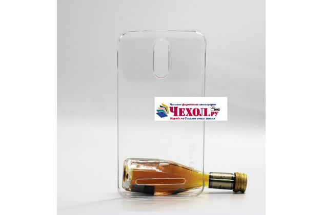 Фирменная задняя панель-крышка-накладка из тончайшего и прочного пластика для HomTom HT17/ HT17 Pro прозрачная