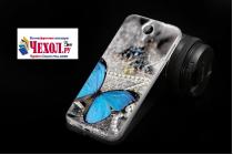 """Фирменная роскошная задняя панель-чехол-накладка  из мягкого силикона с безумно красивым расписным 3D рисунком на HomTom HT3 Pro тематика """"Бабочка"""""""