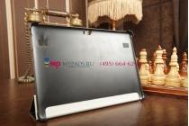 Ультра-тонкий фирменный чехол-обложка для Huawei Mediapad 10 FHD черный пластиковый