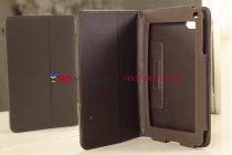 Чехол-обложка для Huawei Mediapad 7 Lite коричневый кожаный
