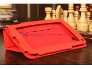 Чехол-обложка для Huawei Mediapad 7 Lite красный кожаный..