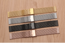 Фирменный сменный сетчатый плетёный ремешок для умных смарт-часов Huawei Watch Fit из нержавеющей стали с замком-застежкой