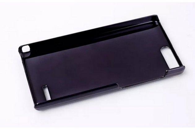 """Элитная задняя панель-крышка из тончайшего и прочного пластика для Huawei Ascend G6 с матовой отделкой """"под карбон"""" черная"""