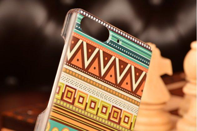 Фирменная роскошная задняя панель-чехол-накладка с безумно красивым расписным эклектичным узором на Huawei Ascend G6