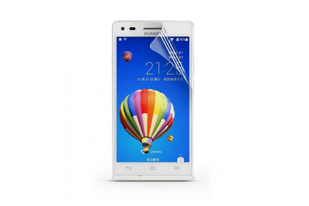 Фирменная оригинальная защитная пленка для телефона Huawei Ascend G6 глянцевая