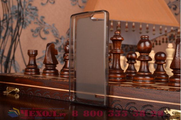 Фирменная ультра-тонкая полимерная мягкая задняя панель-чехол-накладка для Huawei Ascend G6 черная