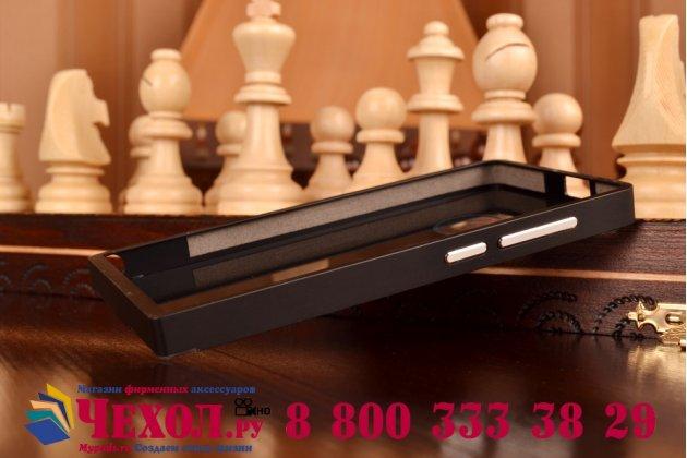 Фирменная металлическая задняя панель-крышка-накладка из тончайшего облегченного авиационного алюминия для Huawei Ascend G6 черная
