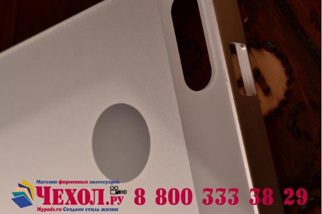 Фирменная металлическая задняя панель-крышка-накладка из тончайшего облегченного авиационного алюминия для Huawei Ascend G6 серебристая