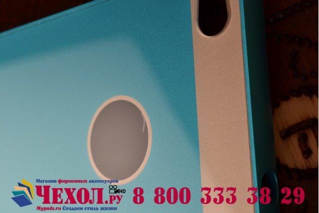 """Фирменная металлическая задняя панель-крышка-накладка из тончайшего облегченного авиационного алюминия для Huawei P8 5.2"""" синяя"""
