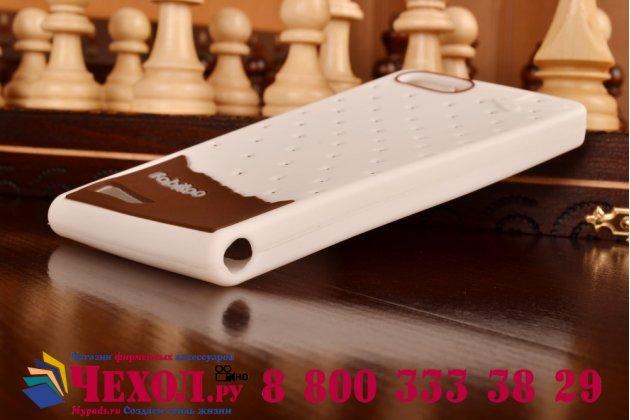"""Фирменная необычная уникальная полимерная мягкая задняя панель-чехол-накладка для Huawei Ascend G6 """"тематика Андроид в Белом Шоколаде"""""""