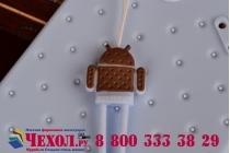 """Фирменная необычная уникальная полимерная мягкая задняя панель-чехол-накладка для Huawei Ascend G6  """"тематика Андроид в черничном шоколаде"""""""