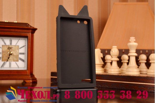 """Фирменная задняя панель-чехол-накладка с объёмным 3D изображением для Huawei Ascend G6 """"тематика черно-белая Собака"""""""