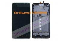 Фирменный LCD-ЖК-сенсорный дисплей-экран-стекло с тачскрином на телефон Huawei Ascend Honor Pro G600 (U8950) черный + гарантия