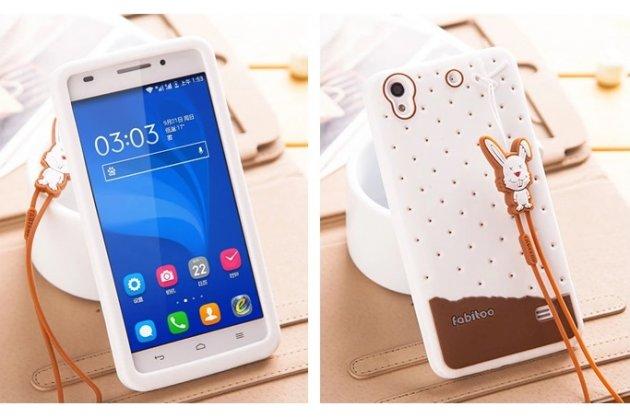 """Фирменная необычная уникальная полимерная мягкая задняя панель-чехол-накладка для Huawei Ascend G620S """"тематика Андроид в Белом Шоколаде"""""""