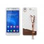 Фирменная необычная уникальная полимерная мягкая задняя панель-чехол-накладка для Huawei Ascend G620S