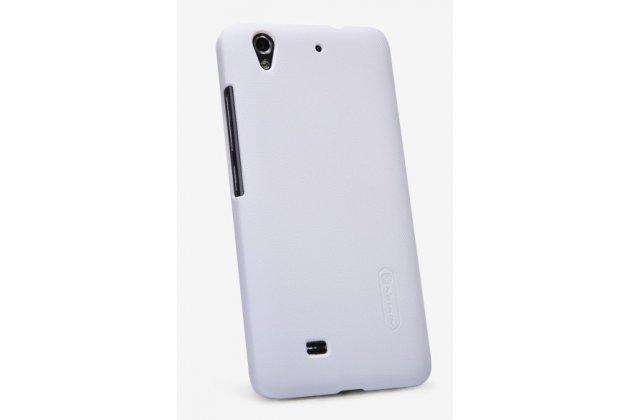 Фирменная задняя панель-крышка-накладка из тончайшего и прочного пластика для Huawei Ascend G620S белая