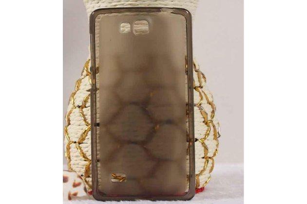 Фирменная ультра-тонкая полимерная из мягкого качественного силикона задняя панель-чехол-накладка для Huawei Ascend G620S черная