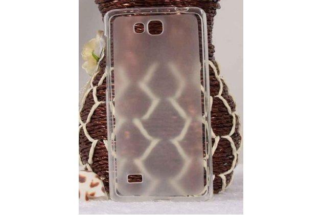 Фирменная ультра-тонкая полимерная из мягкого качественного силикона задняя панель-чехол-накладка для Huawei Ascend G620S белая