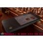 Фирменный оригинальный чехол-кейс из импортной кожи Quick Circle для Huawei Ascend G8/G7 Plus/GX8 с умным окном черный