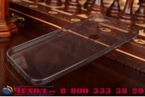Фирменная ультра-тонкая полимерная из мягкого качественного силикона задняя панель-чехол-накладка для Huawei Ascend G8/G7 Plus/GX8 черная