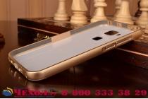 Фирменная металлическая задняя панель-крышка-накладка из тончайшего облегченного авиационного алюминия для Huawei Ascend G8/G7 Plus/GX8 золотая