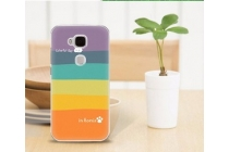 """Фирменная необычная из легчайшего и тончайшего пластика задняя панель-чехол-накладка для Huawei Ascend G8/G7 Plus/GX8  """"тематика Все цвета Радуги"""""""