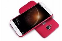 Фирменная задняя панель-крышка-накладка из тончайшего и прочного пластика для Huawei Ascend G8/G7 Plus/GX8 красная