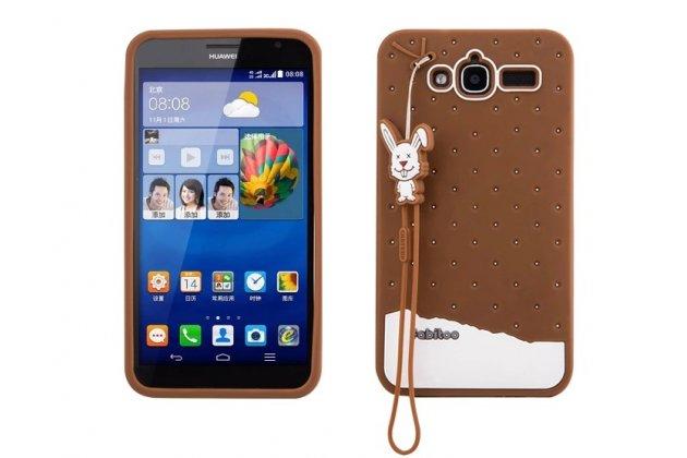 """Фирменная необычная уникальная полимерная мягкая задняя панель-чехол-накладка для Huawei Ascend GX1 """"тематика Андроид в тёмном Шоколаде"""""""
