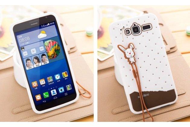 """Фирменная необычная уникальная полимерная мягкая задняя панель-чехол-накладка для Huawei Ascend GX1 """"тематика Андроид в Белом Шоколаде"""""""
