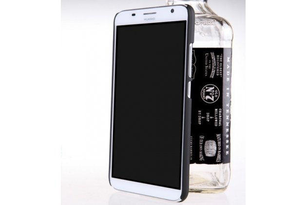 Фирменная задняя панель-крышка-накладка из тончайшего и прочного пластика для Huawei Ascend GX1 черная