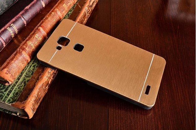 Фирменная задняя панель-крышка-накладка под металл для Huawei Ascend Mate 7/7 Premium золотая