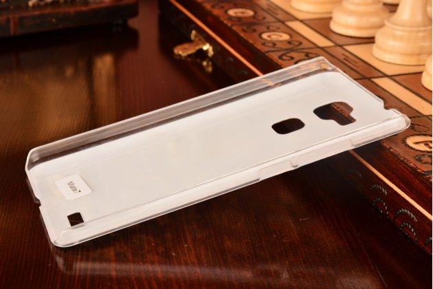 Фирменная необычная из легчайшего и тончайшего пластика задняя панель-чехол-накладка для Huawei Ascend Mate 7 тематика Олени в цветах