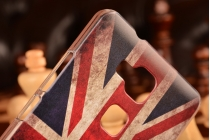 Фирменная необычная из легчайшего и тончайшего пластика задняя панель-чехол-накладка для Huawei Ascend Mate 7 тематика Британский флаг