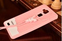 """Фирменная необычная уникальная полимерная мягкая задняя панель-чехол-накладка для  Huawei Ascend Mate 7/7 Premium """"тематика Андроид в клубничном шоколаде"""""""