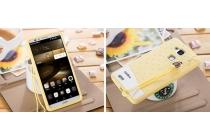 """Фирменная необычная уникальная полимерная мягкая задняя панель-чехол-накладка для  Huawei Ascend Mate 7/7 Premium """"тематика Андроид в банановом шоколаде"""""""